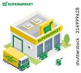 supermarket building | Shutterstock .eps vector #316999628