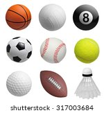 set of balls isolated on white... | Shutterstock . vector #317003684