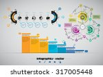 business infographics   Shutterstock .eps vector #317005448
