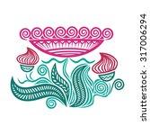 floral nature pattern design... | Shutterstock .eps vector #317006294