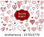 vector graphic set of hand... | Shutterstock .eps vector #317022770