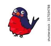 bird  bullfinch | Shutterstock . vector #317034788