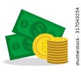 money saving and business... | Shutterstock .eps vector #317043254