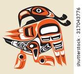 dancing bird    first nation... | Shutterstock .eps vector #317043776