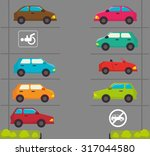 parking or park zone design ... | Shutterstock .eps vector #317044580