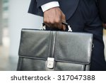 detail of a businessman holding ... | Shutterstock . vector #317047388