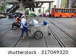 bangkok   mar 7  a hawker... | Shutterstock . vector #317049320