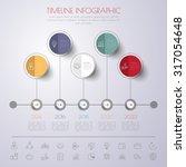 business concept timeline.... | Shutterstock .eps vector #317054648