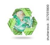 Recycle Arrow Symbol Eco Leave...