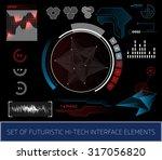 sci fi futuristic user... | Shutterstock . vector #317056820