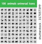 animal icons pack | Shutterstock .eps vector #317057399