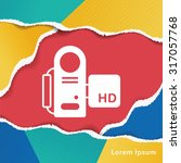 video camera icon | Shutterstock .eps vector #317057768