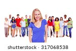 diverse people happiness... | Shutterstock . vector #317068538