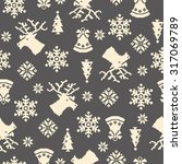 nordic tradition pattern | Shutterstock .eps vector #317069789