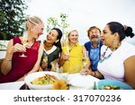 diversity friends hanging out... | Shutterstock . vector #317070236