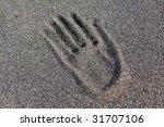 hand in sand | Shutterstock . vector #31707106