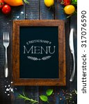 restaurant cafe menu  template... | Shutterstock . vector #317076590