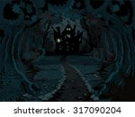 illustration of spooky haunted...   Shutterstock .eps vector #317090204