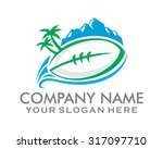 rugby ball ball sports logo... | Shutterstock .eps vector #317097710