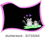 message blackboard with mice... | Shutterstock .eps vector #31710265