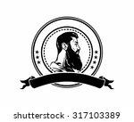 bearded mustache manly guy man... | Shutterstock .eps vector #317103389