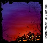 halloween background with... | Shutterstock .eps vector #317105408