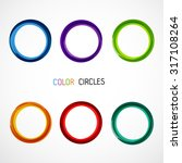 color circles set | Shutterstock .eps vector #317108264