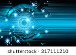dark blue color light abstract... | Shutterstock .eps vector #317111210