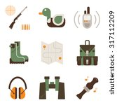 vector set of duck hunt symbols.... | Shutterstock .eps vector #317112209