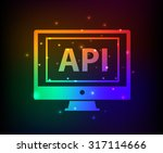 api design abstract rainbow...