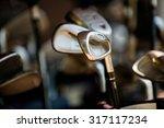putter golf course close up ... | Shutterstock . vector #317117234