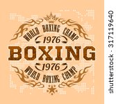 boxing vintage vector label for ... | Shutterstock .eps vector #317119640