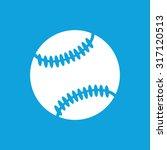 baseball ball icon  simple...