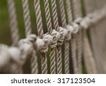 rope with tied knot of a... | Shutterstock . vector #317123504