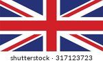 vector image of british flag  ... | Shutterstock .eps vector #317123723