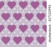 polka dot heart pattern | Shutterstock .eps vector #317123993