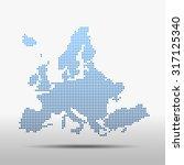 map of europe | Shutterstock .eps vector #317125340