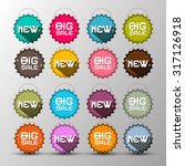 colorful new   big sale labels  ... | Shutterstock . vector #317126918