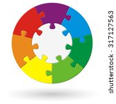round puzzle with base and...   Shutterstock .eps vector #317127563