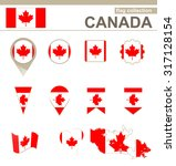 canada flag collection  12... | Shutterstock . vector #317128154