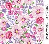 floral seamless pattern. flower ... | Shutterstock .eps vector #317128868
