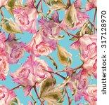 roses seamless pattern | Shutterstock . vector #317128970