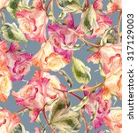 roses seamless pattern | Shutterstock . vector #317129003