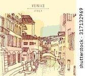 Venice  Italy  Europe. Vector...