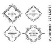 vector monogram decorative... | Shutterstock .eps vector #317132984