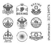 boxing club set of vector...   Shutterstock .eps vector #317134976