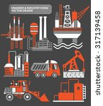 industry engineer and factory...   Shutterstock .eps vector #317139458
