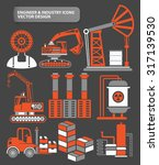 industry engineer and factory... | Shutterstock .eps vector #317139530