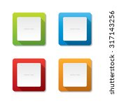 rounded square vector labels | Shutterstock .eps vector #317143256