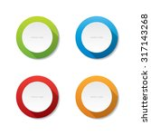 round vector labels | Shutterstock .eps vector #317143268